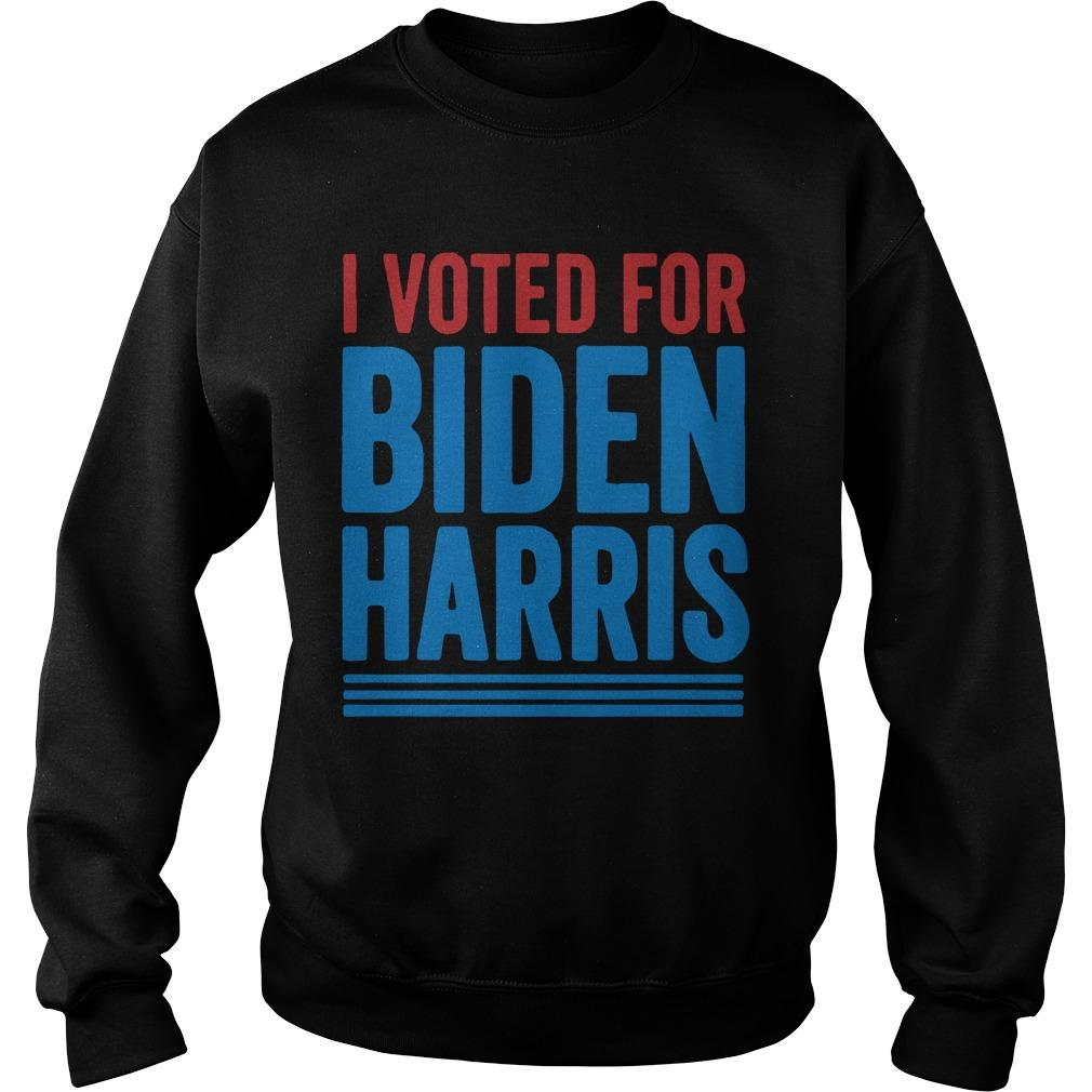 I Voted For Biden Harris Sweater