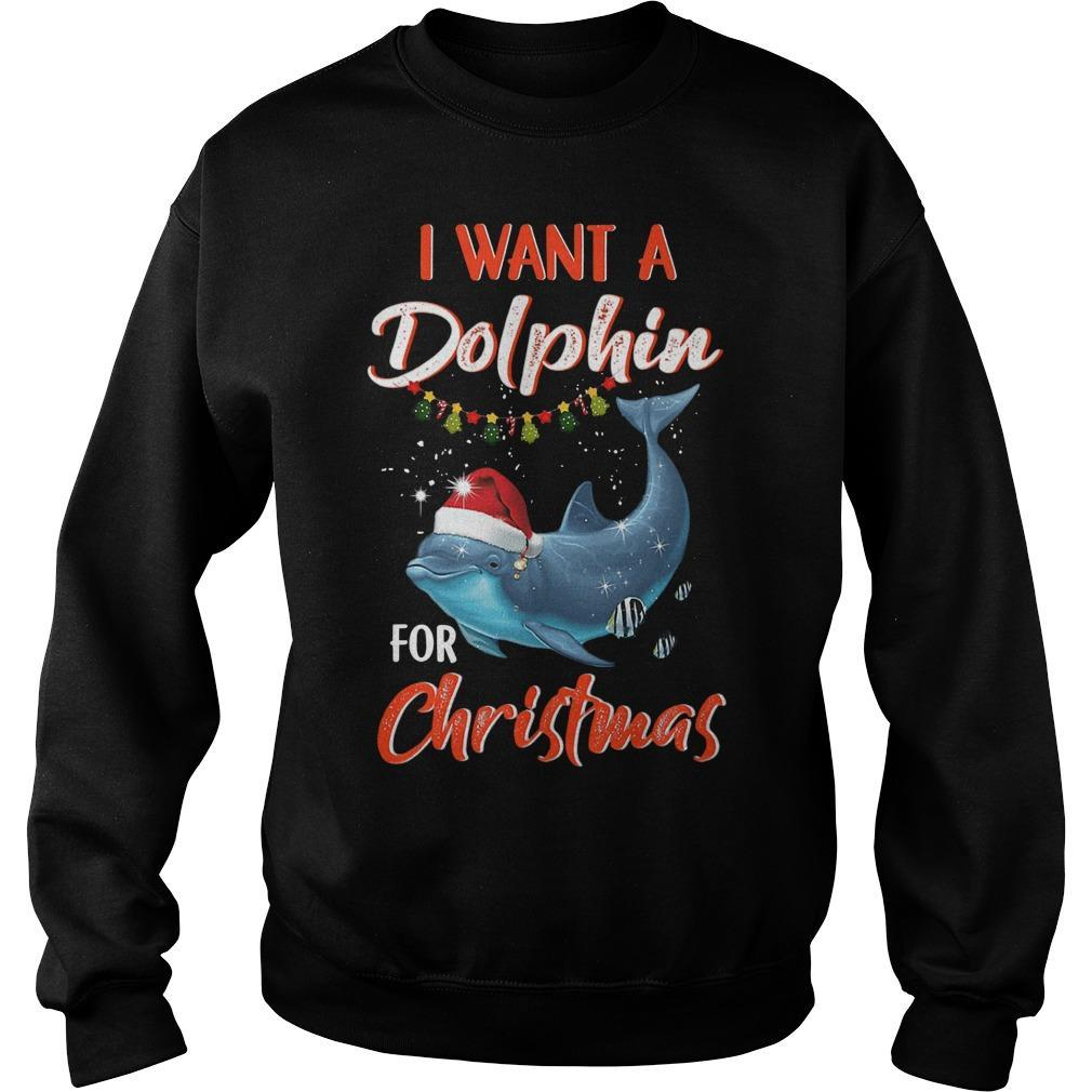 I Want A Dolphin For Christmas Sweater
