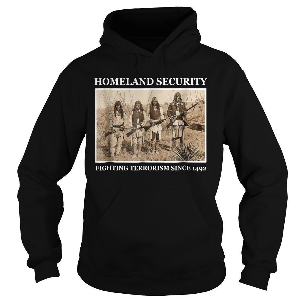 Katie Halper Homeland Security Fighting Terrorism Since 1492 Hoodie