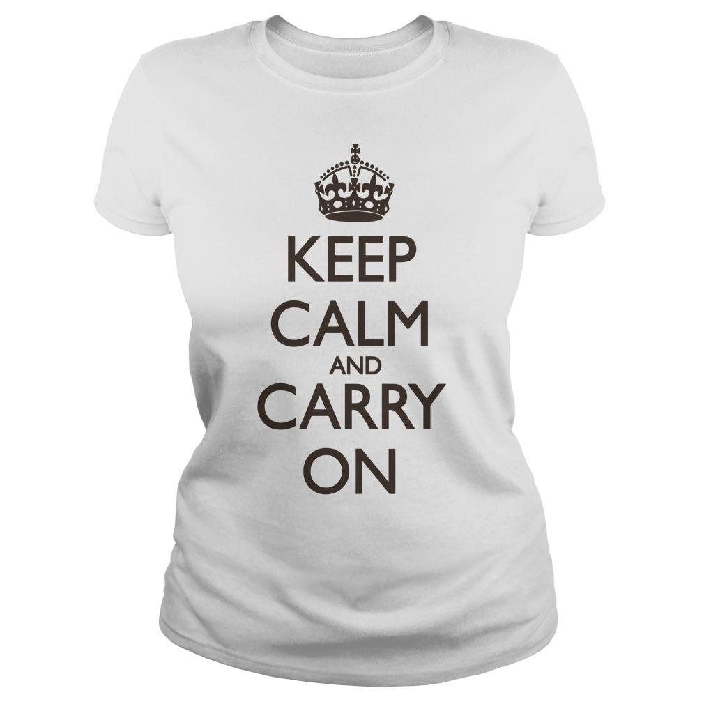 Keep Calm And Carry On Longsleeve