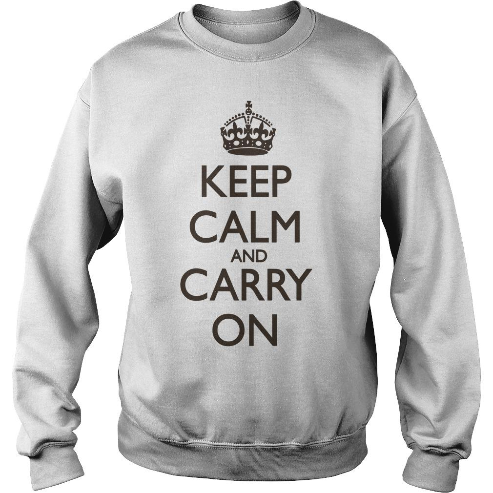 Keep Calm And Carry On Sweater