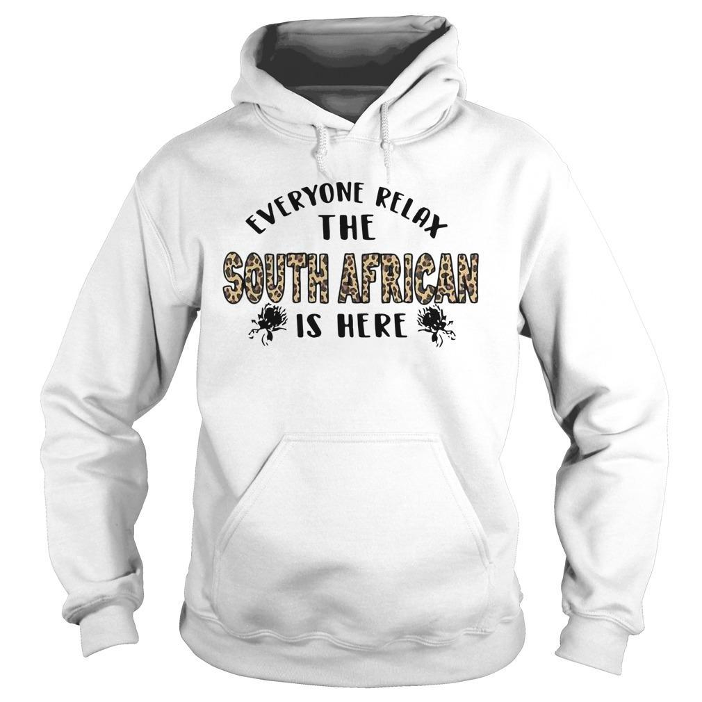 Leopard Everyone Relax The South African Is Here Hoodie
