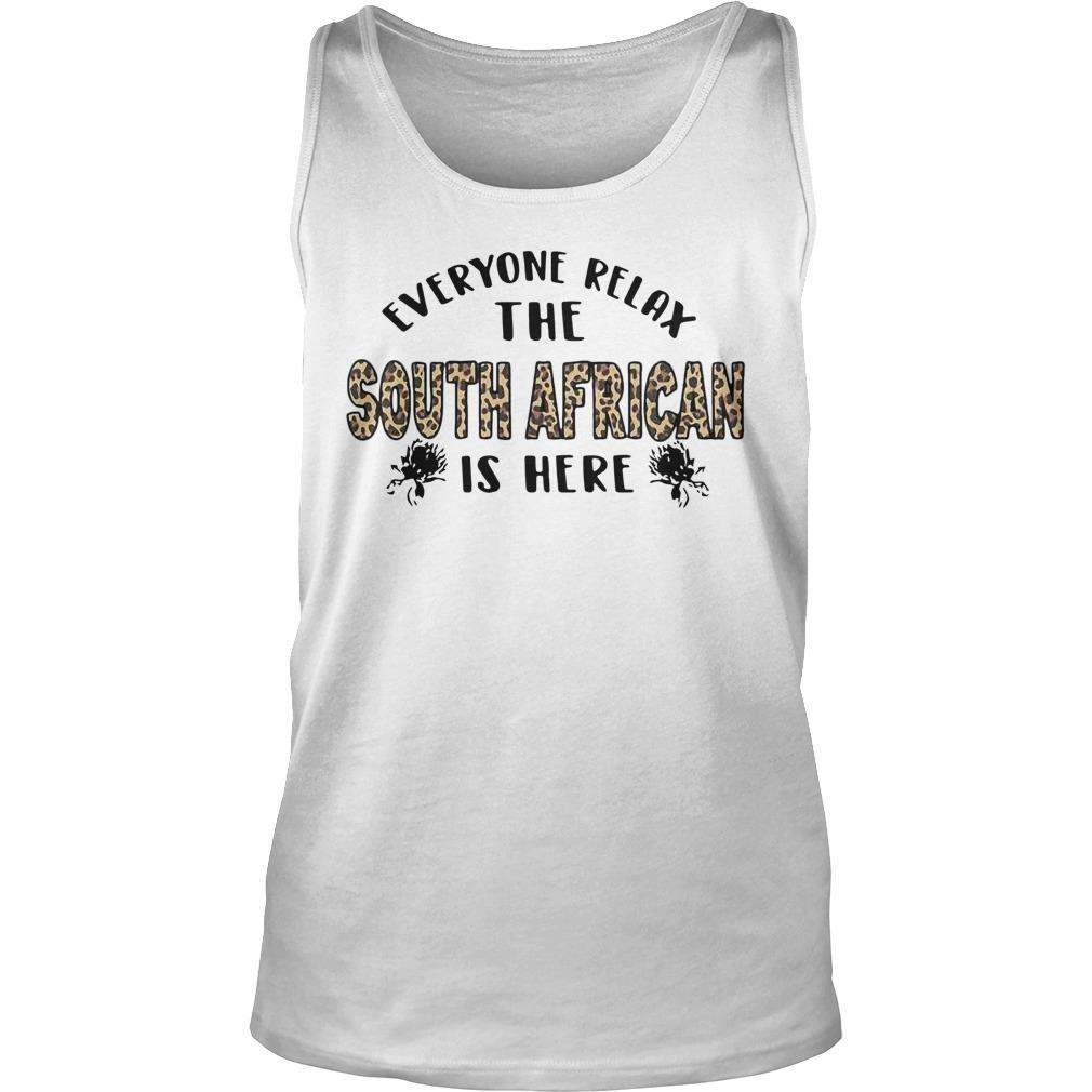 Leopard Everyone Relax The South African Is Here Tank Top