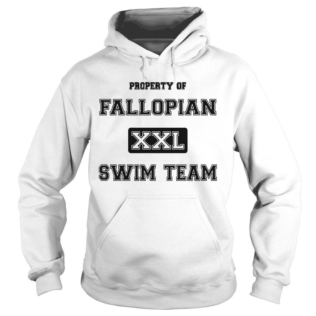 Property Of Fallopian Xxl Swim Team Hoodie