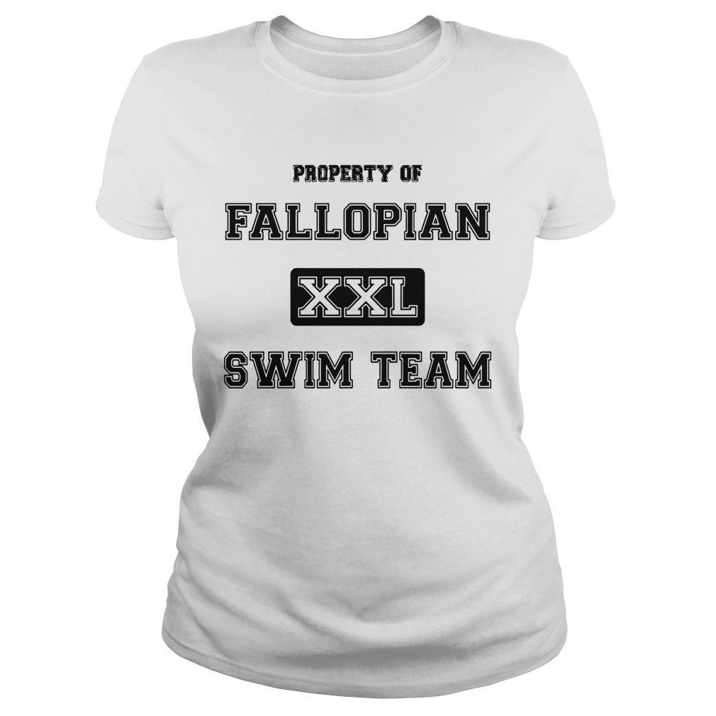Property Of Fallopian Xxl Swim Team Longsleeve