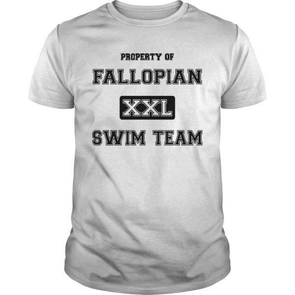 Property Of Fallopian Xxl Swim Team Shirt