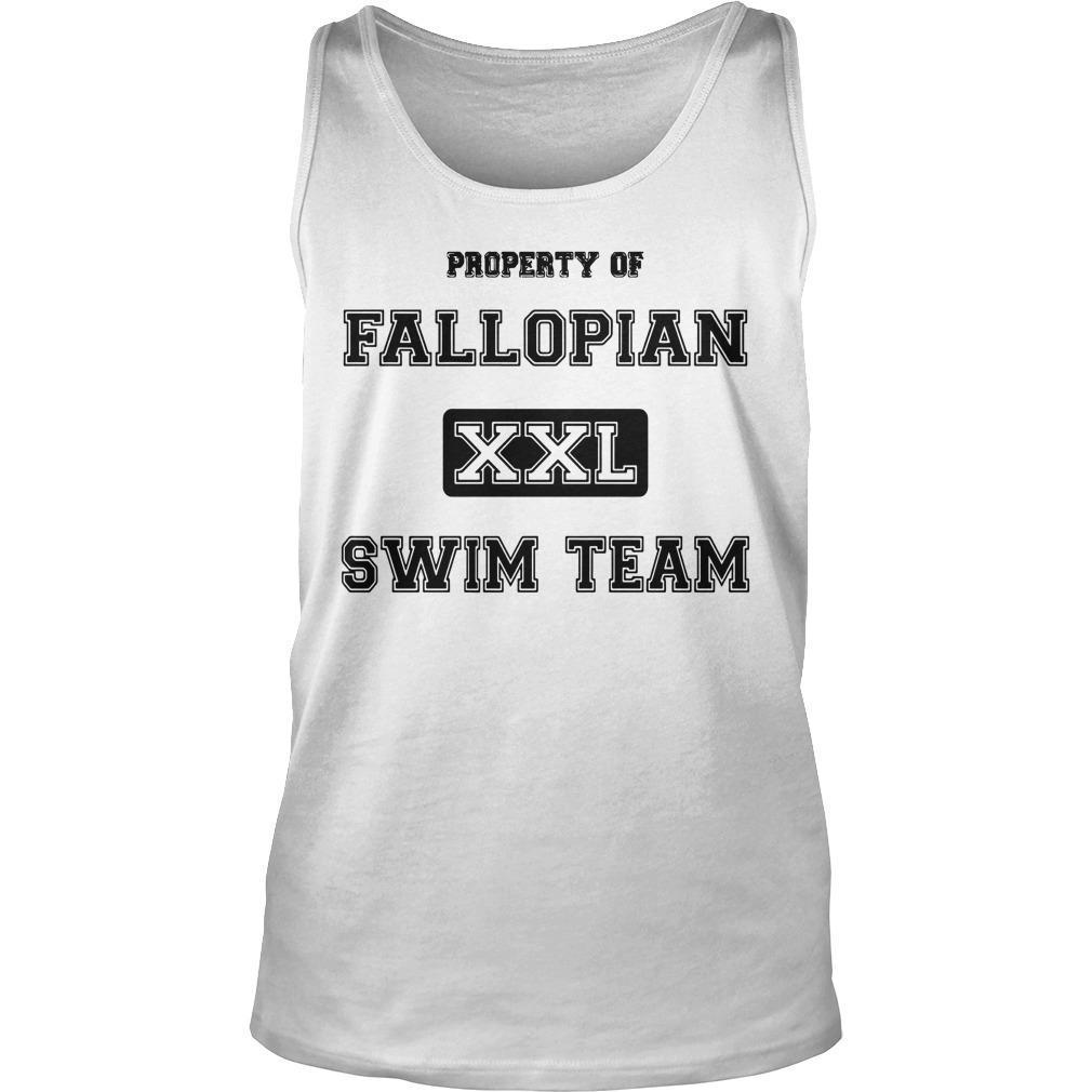 Property Of Fallopian Xxl Swim Team Tank Top