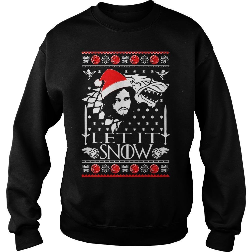 Stark Jon Snow Let It Snow Sweater