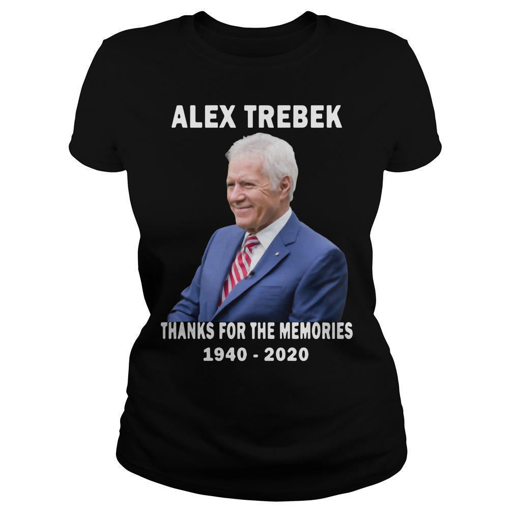 Thanks For The Memories 1940 2020 Alex Trebek Longsleeve