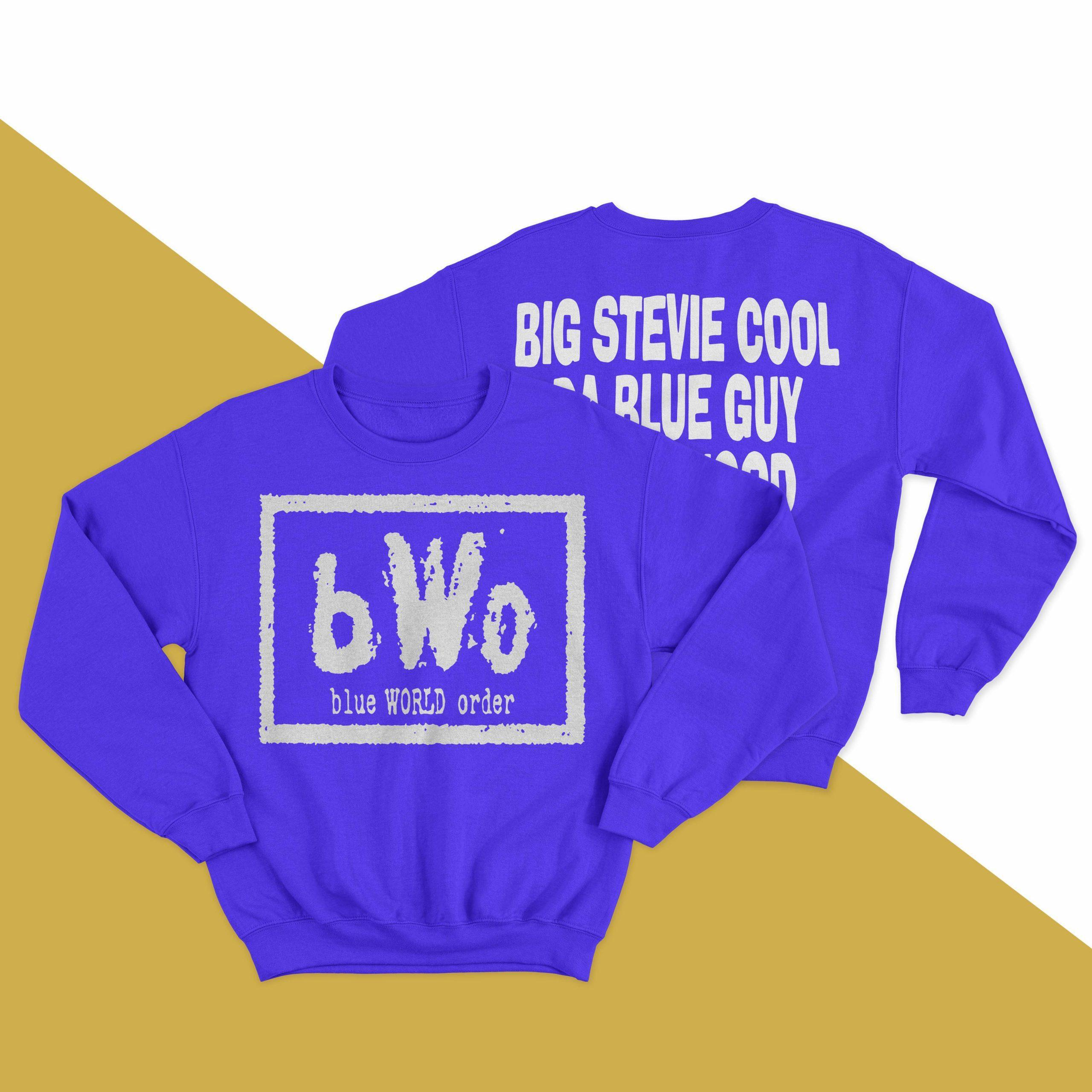 Bwo Blue World Order Big Stevie Cool Da Blue Guy Hollywood Sweater