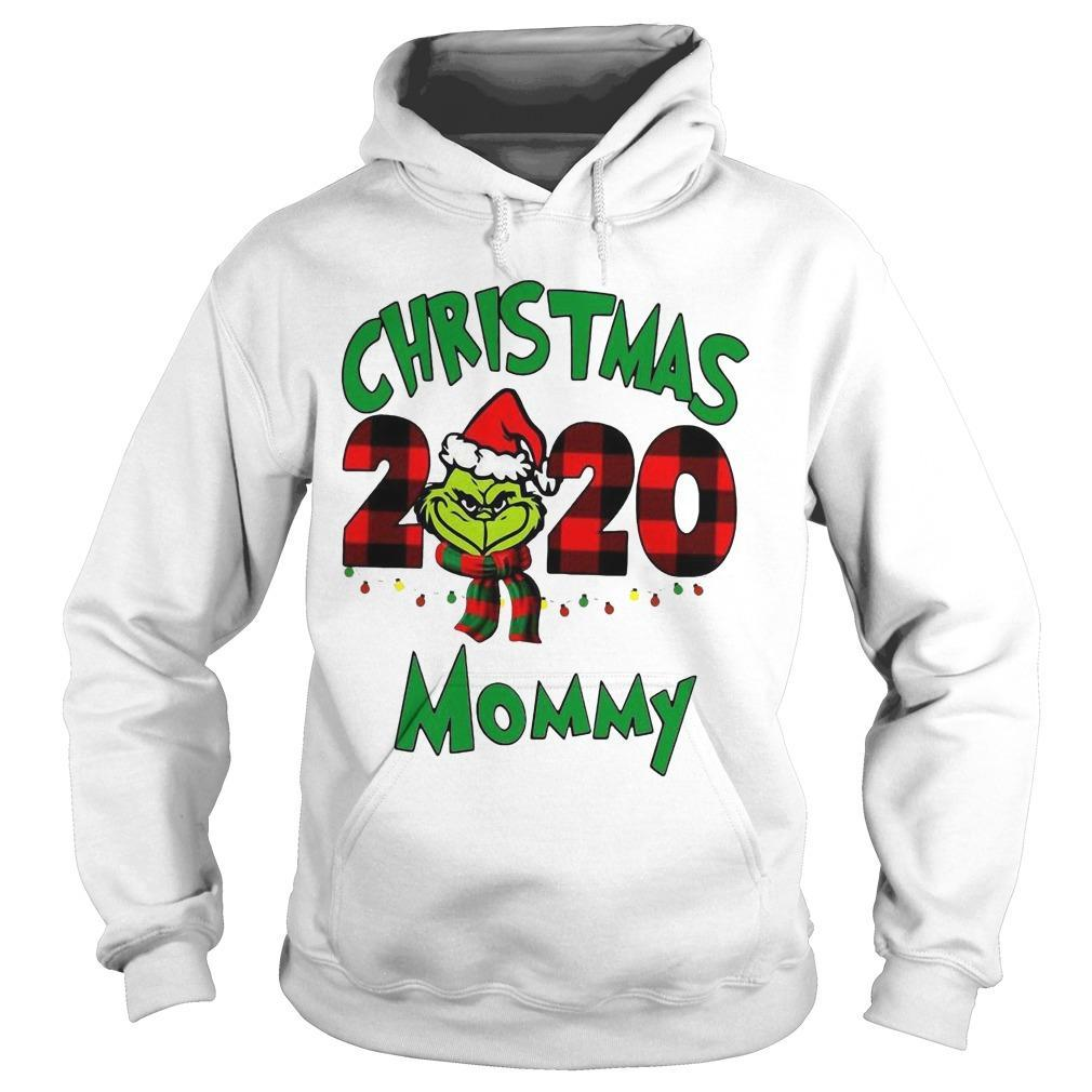Christmas Mommy 2020 Boys Grinch Hoodie