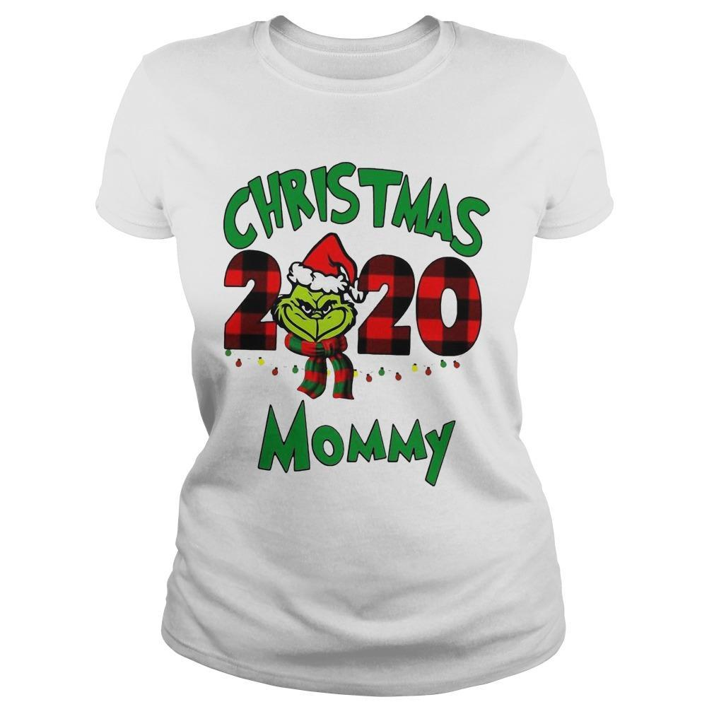 Christmas Mommy 2020 Boys Grinch Longsleeve