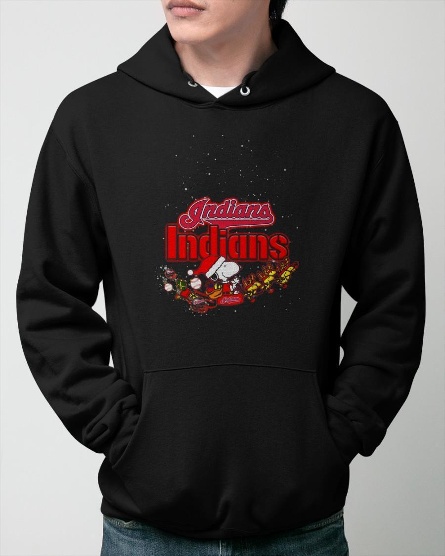 Christmas Snoopy Cleveland Indians Hoodie