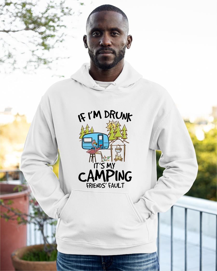 Flamingo If I'm Drunk It's My Camping Friends' Fault Hoodie