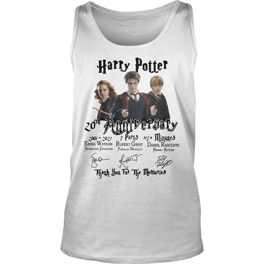 Harry Potter 20th Anniversary Thank You For The Memories Tank Top