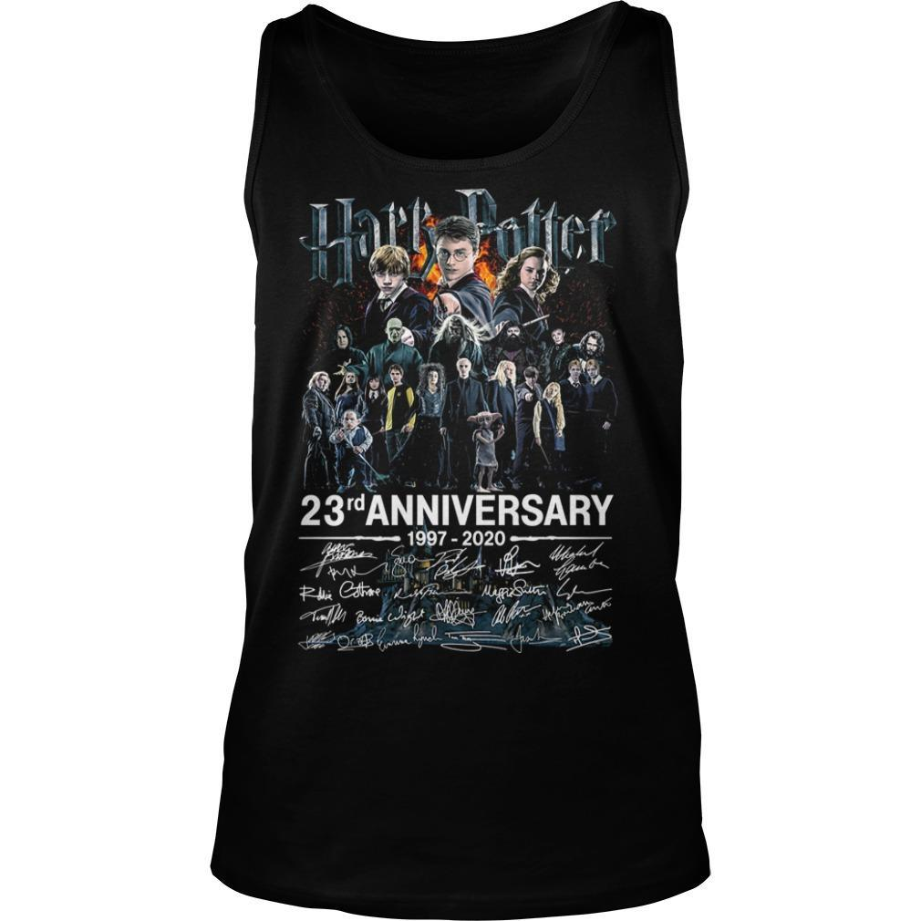 Harry Potter 23rd Anniversary 1997 2020 Signatures Tank Top