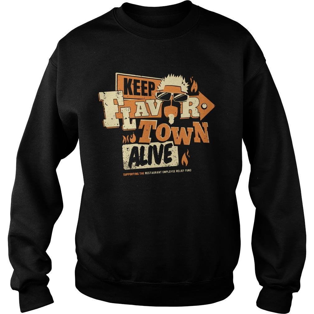 Jimmy's Famous Seafood Keep Flavortown Alive Sweater