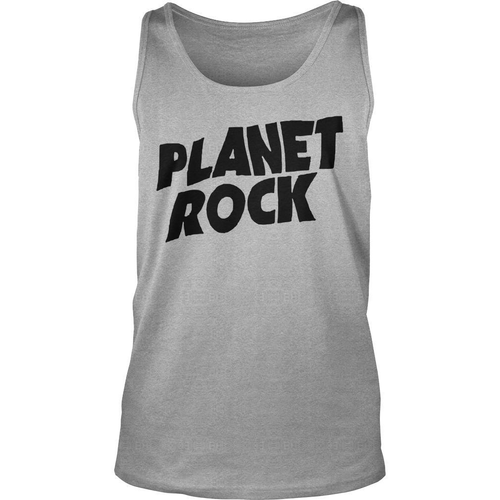 Planet Rock The Rock Black Picture Tank Top