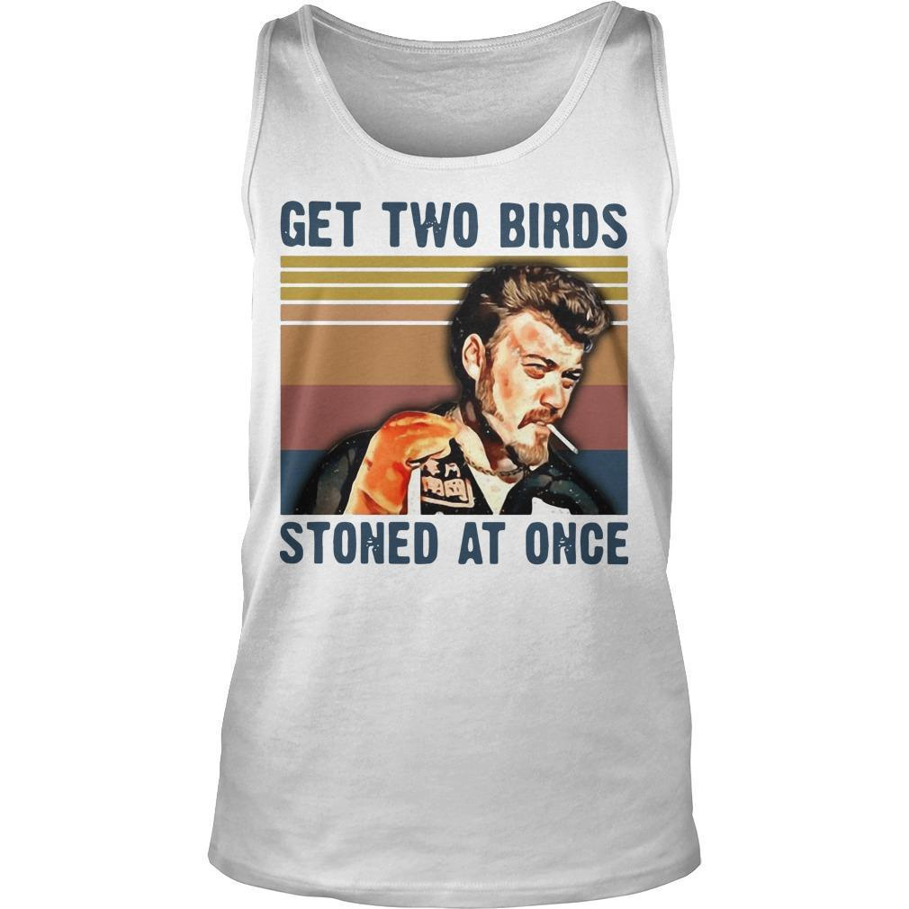 Vintage Trailer Park Boys Get Two Birds Stoned At Once Tank Top