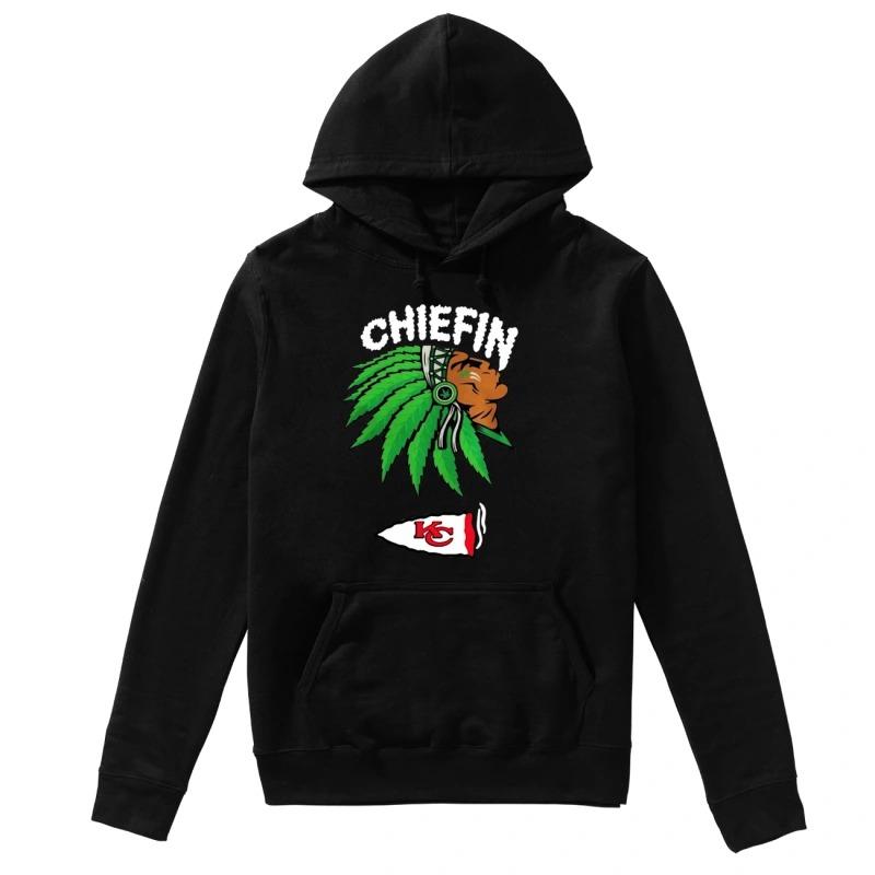 Kansas City Chiefs Native Smoking Weeb Chiefin hoodie