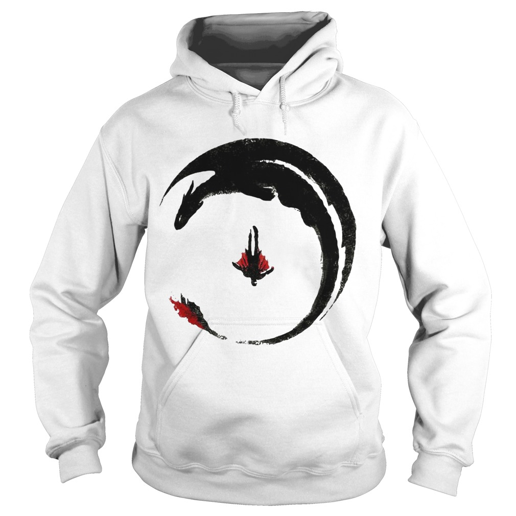 Hiccup And Toothless Flying Watercolor Drawing hoodie