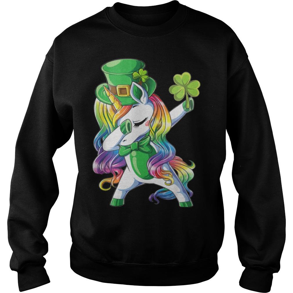 Irish Dabbing Unicorn St Patricks Day Sweater