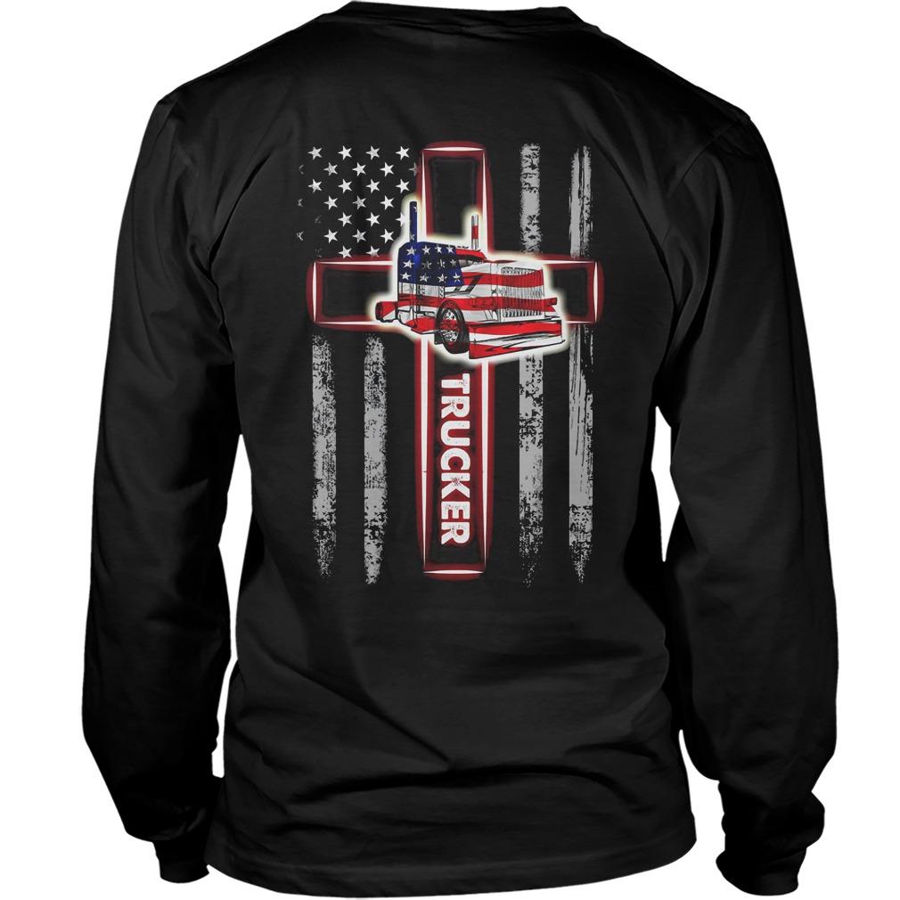 Scoss Trucker Flag American longsleeve tee