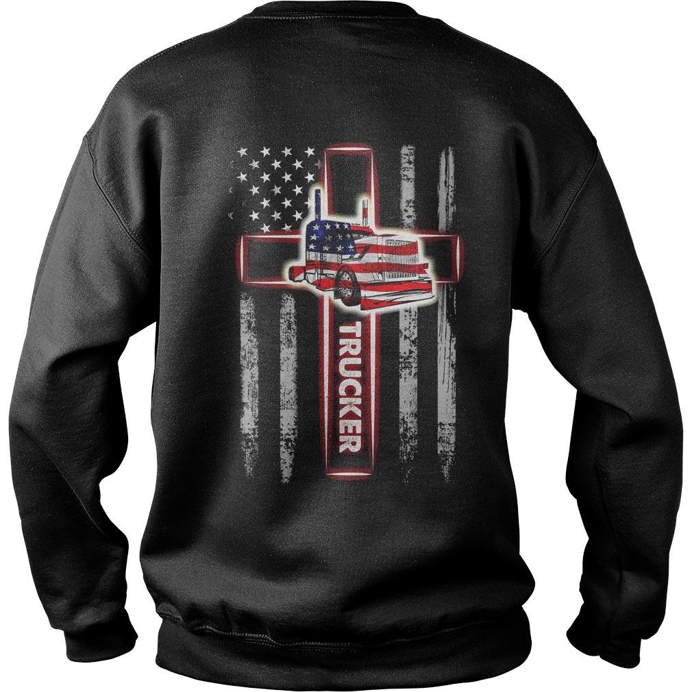 Scoss Trucker Flag American Sweater