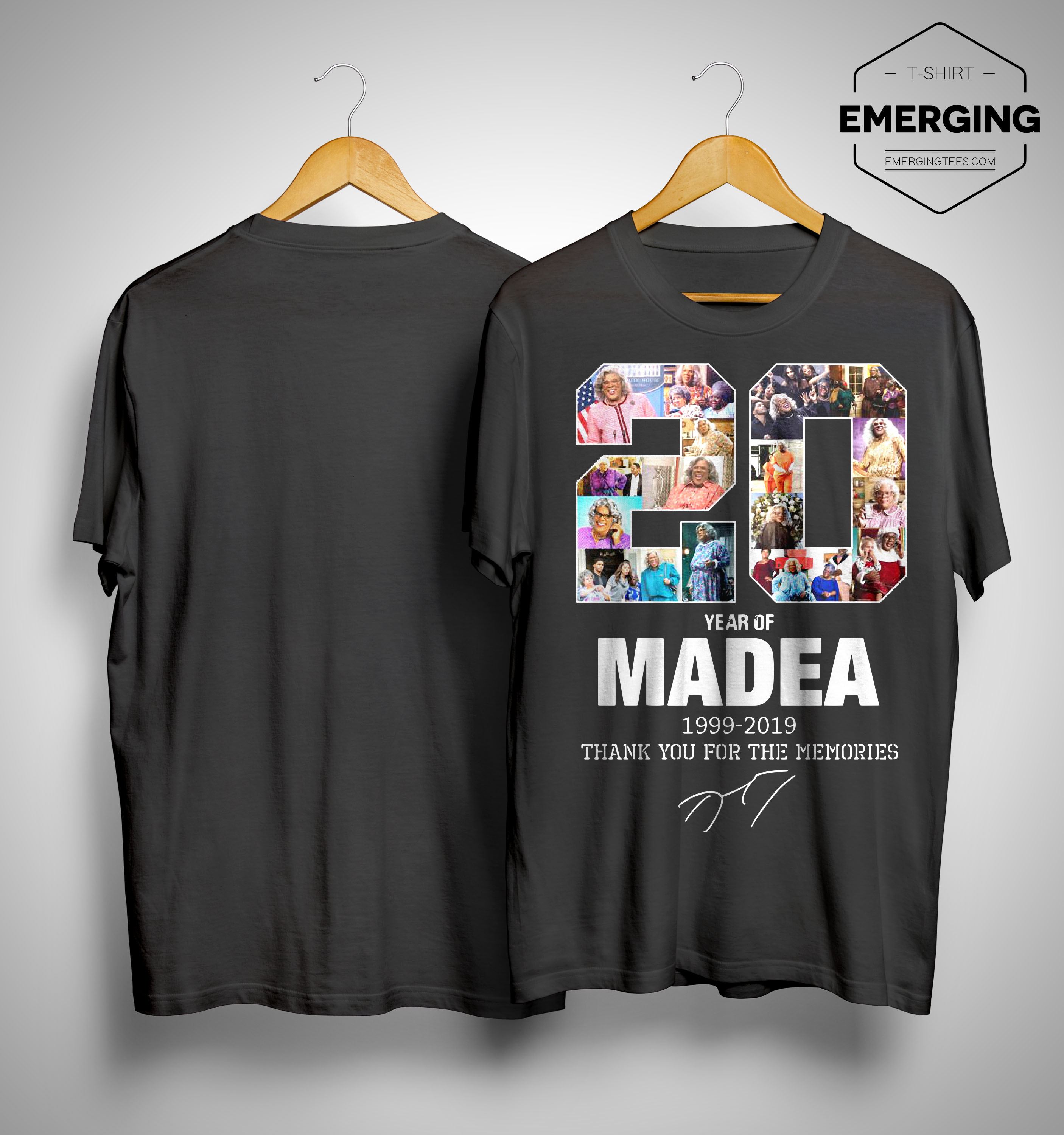 20 Years Of Madea 1999 2019 Thank You For Memories Shirt