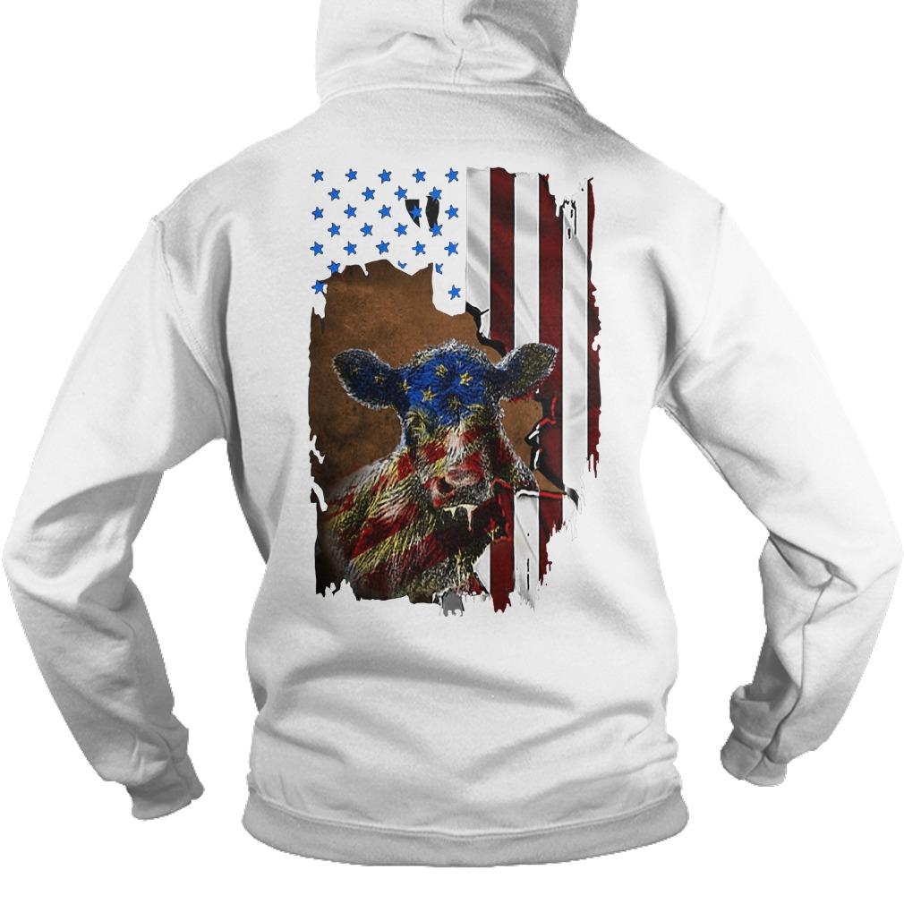 American Flag Independence Day Heifer Hoodie