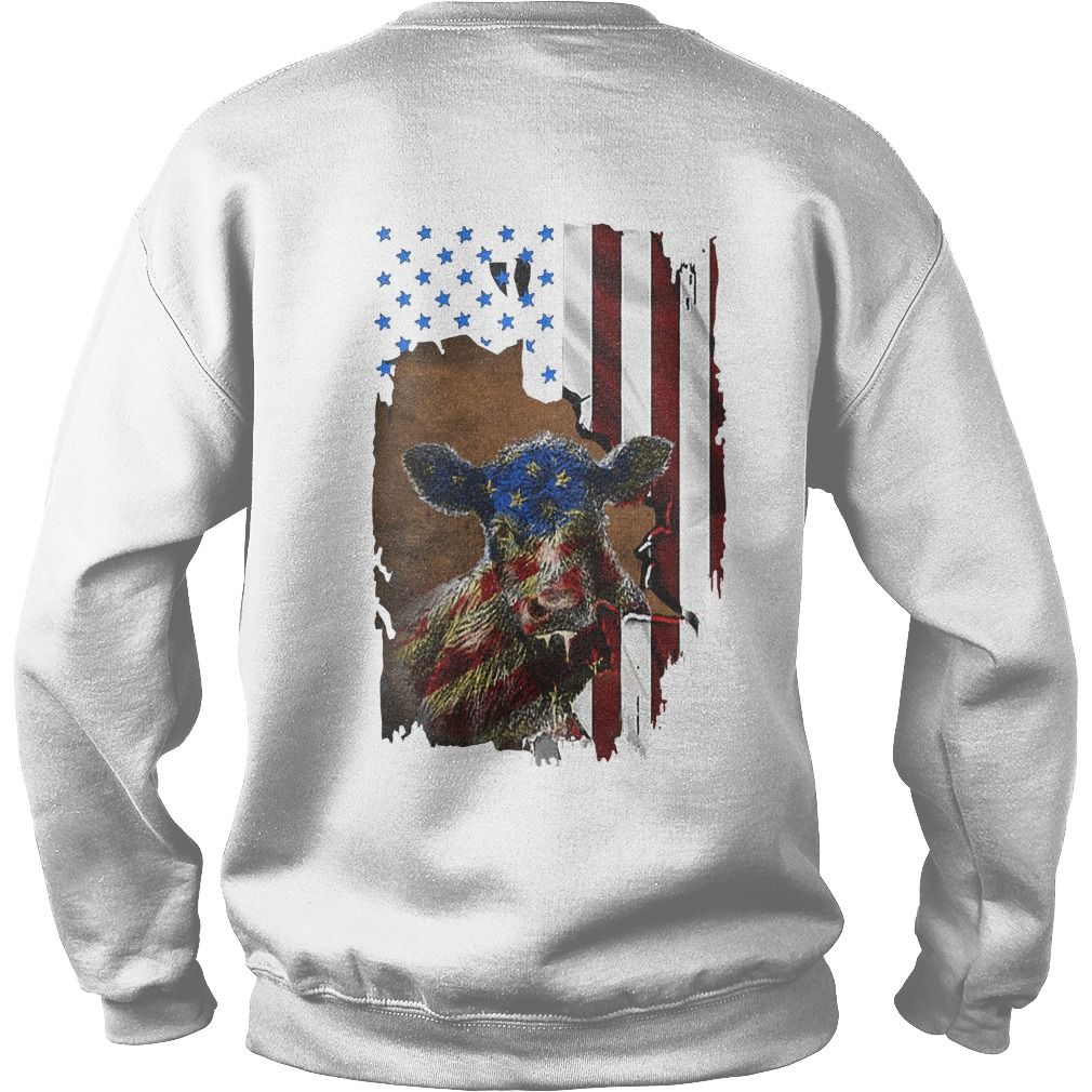 American Flag Independence Day Heifer Sweater