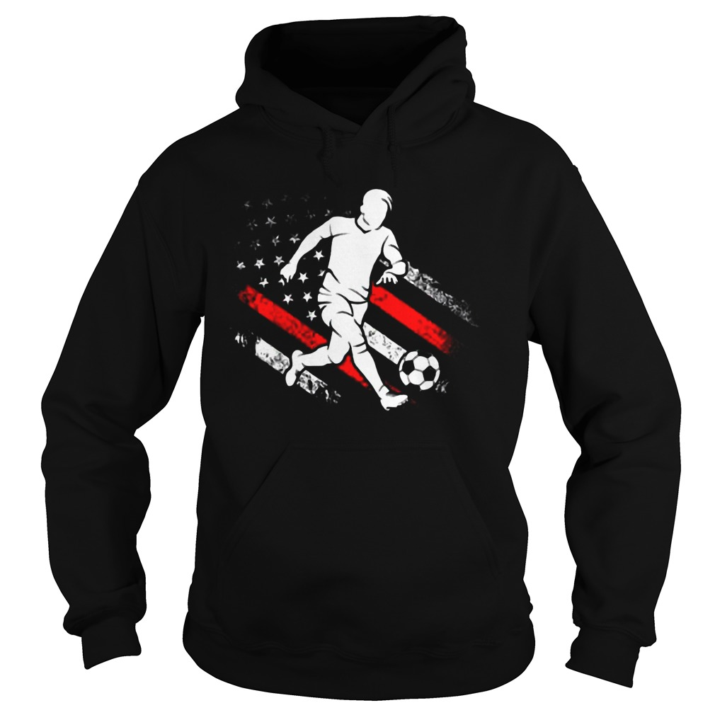 American Flag Soccer Dad Distressed Patriotic Hoodie