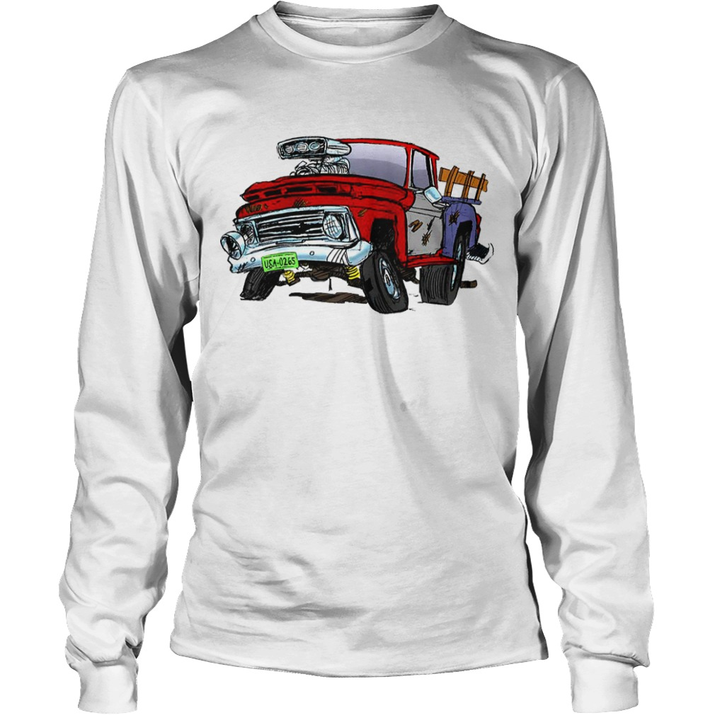Jeff Dunham Bubba J Hot Rod Pick Up Truck Raglan Baseball Longsleeve Tee