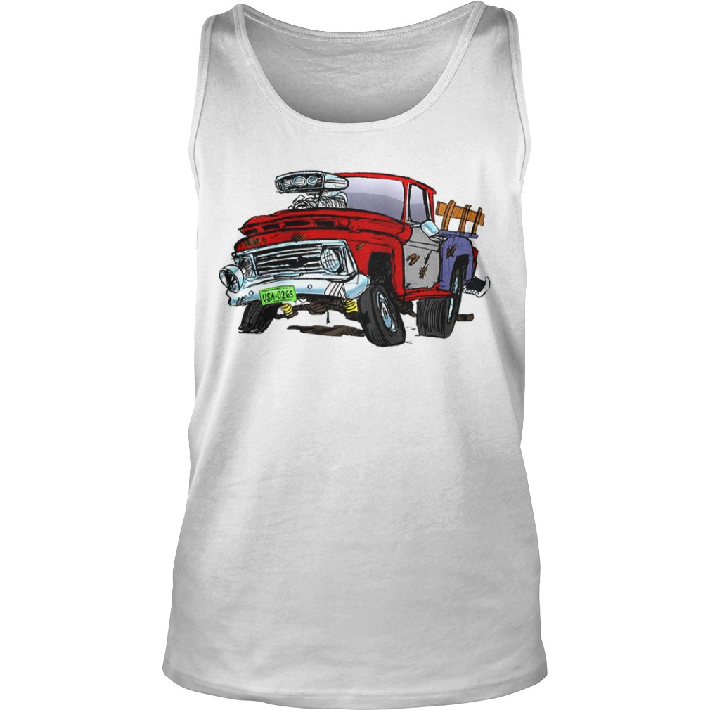Jeff Dunham Bubba J Hot Rod Pick Up Truck Raglan Baseball Tank Top