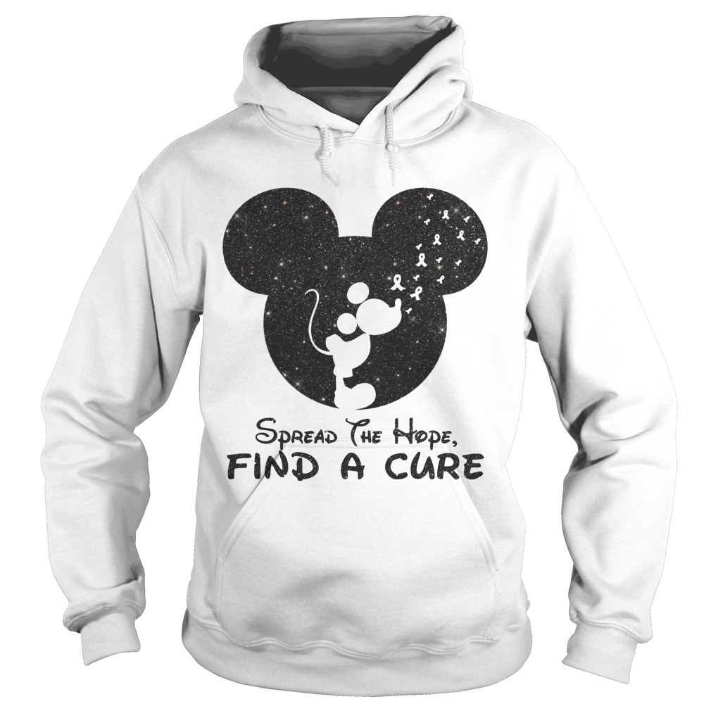 Mickey Spread The Hope Find The Cure Hoodie