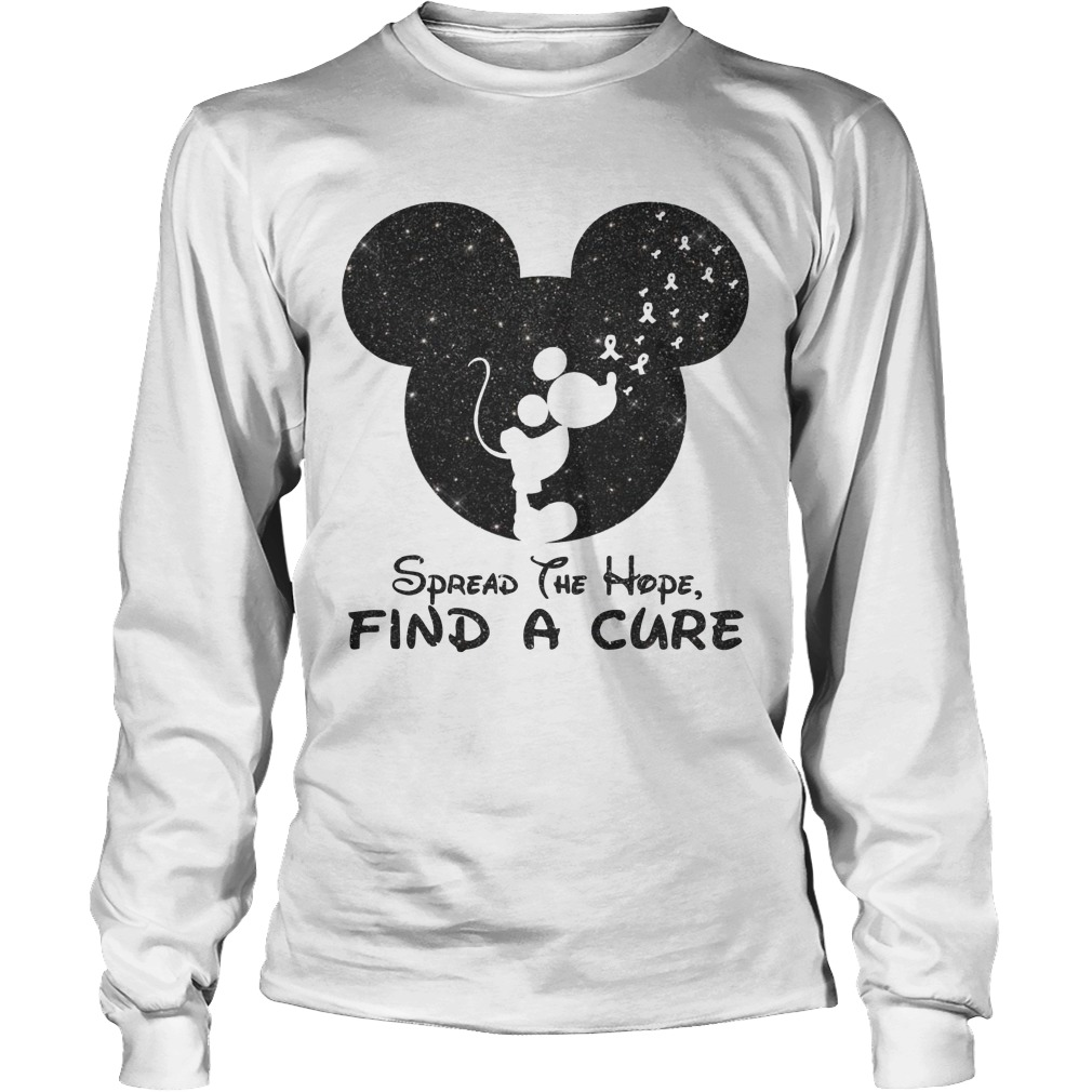Mickey Spread The Hope Find The Cure Longsleeve Tee