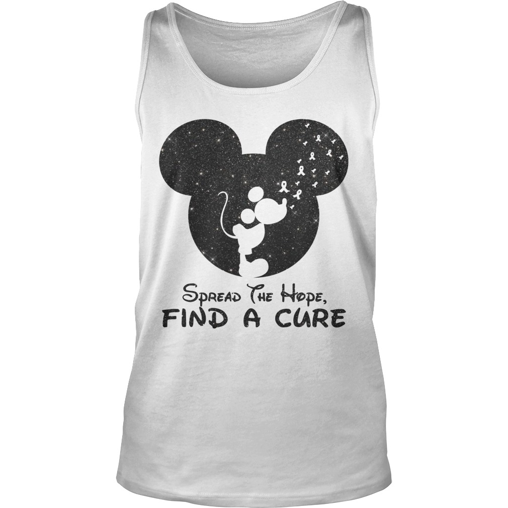 Mickey Spread The Hope Find The Cure Tank Top