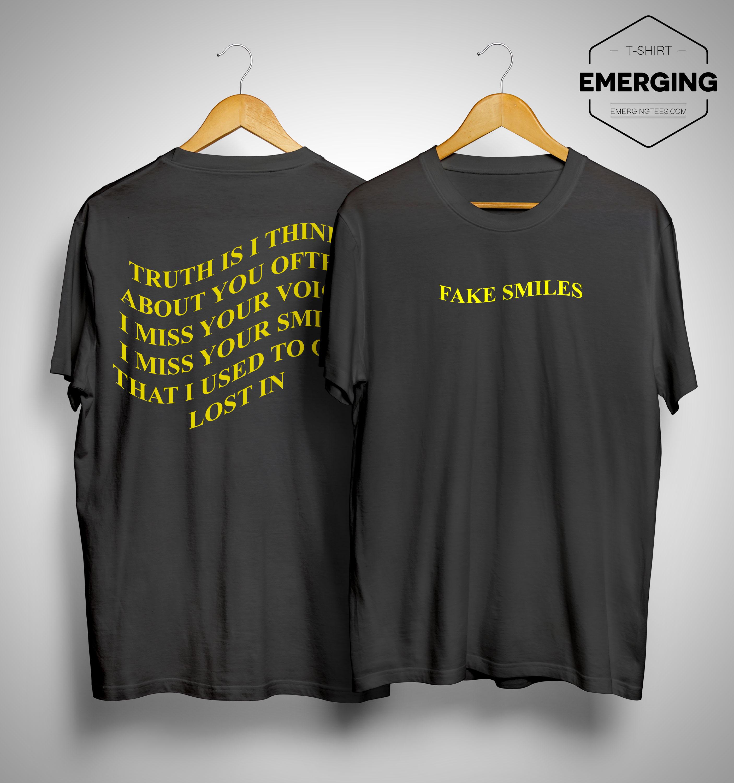 Phora Fake Smiles Lyrics Shirt