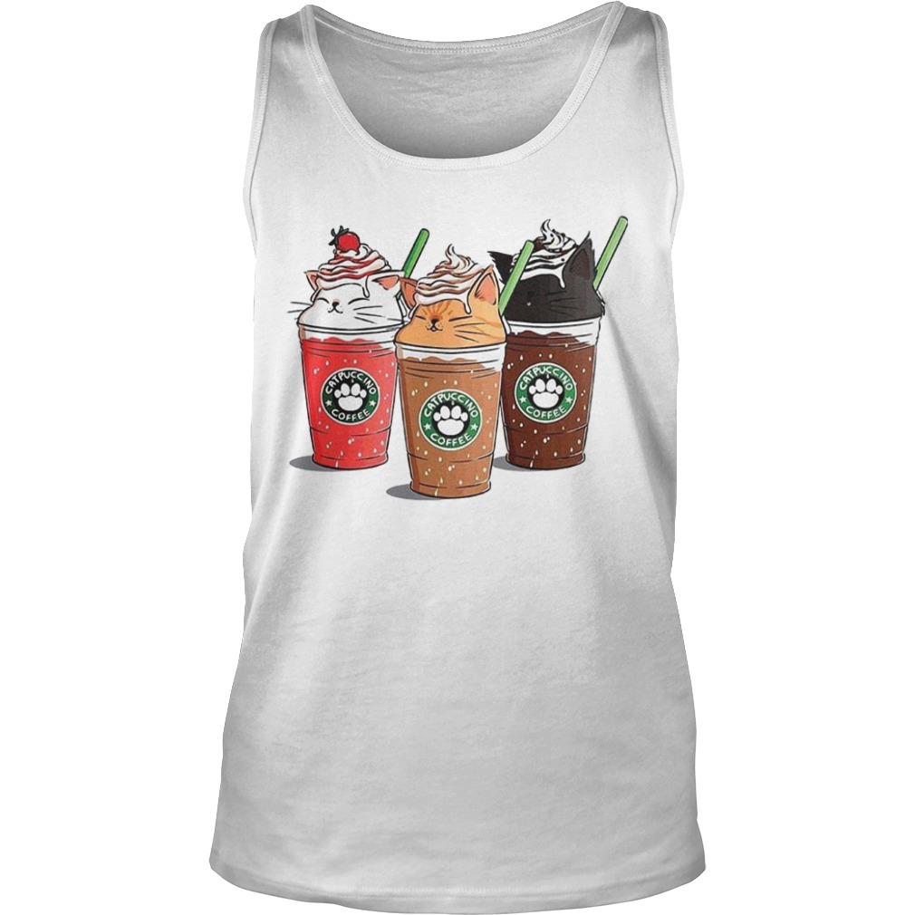 Starbuck Catpuccino Coffee Tank Top