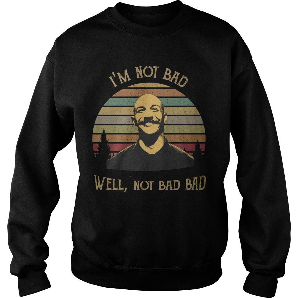 Vintage I'm Not Bad Well Not Bad Bad Sweater
