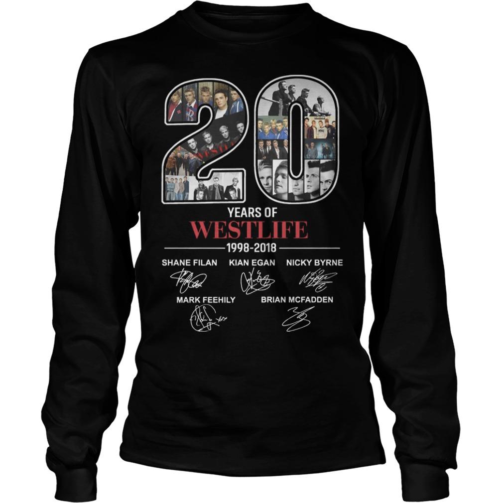 20 Years Of Westlife 1998 2018 Longsleeve Tee