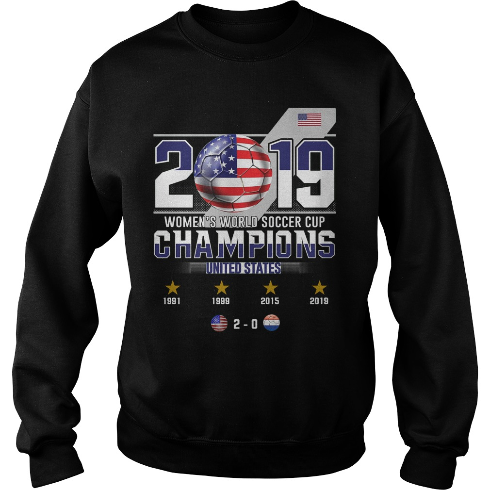 2019 Women's World Soccer Cup Champions United States Sweater
