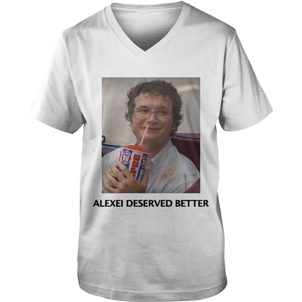 Alexei Stranger Things Guys V Neck Shirt