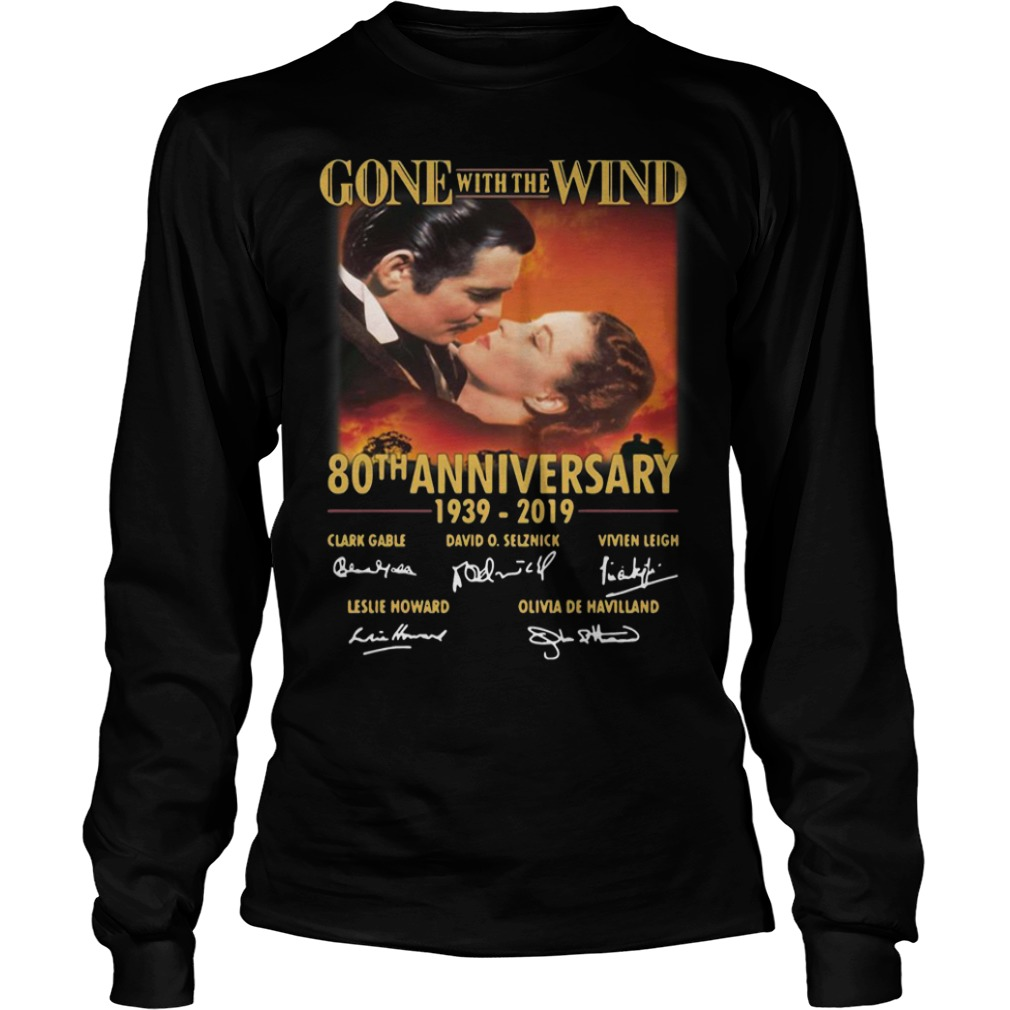 Gone With The Wind 80th Anniversary 1939 2019 Signatures Longsleeve Tee