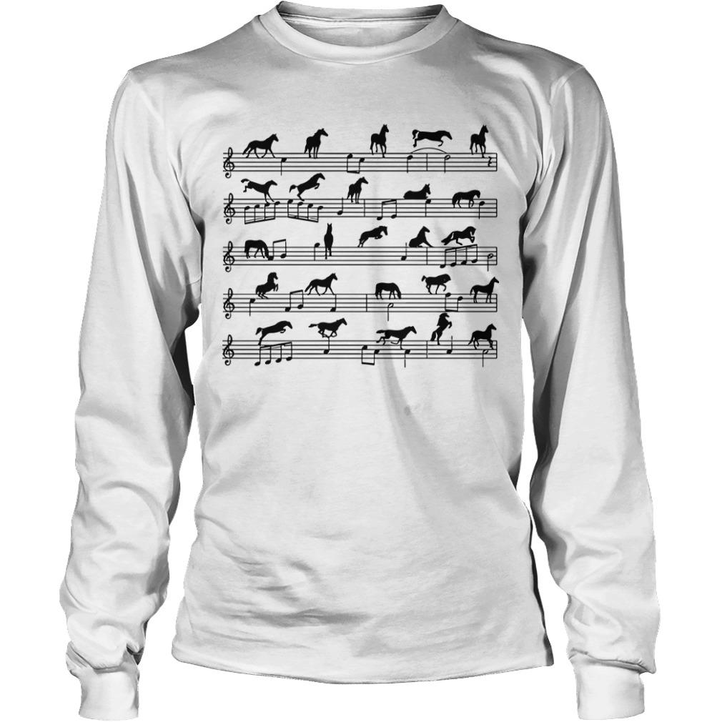 Horses Piano Sheet Longsleeve Tee