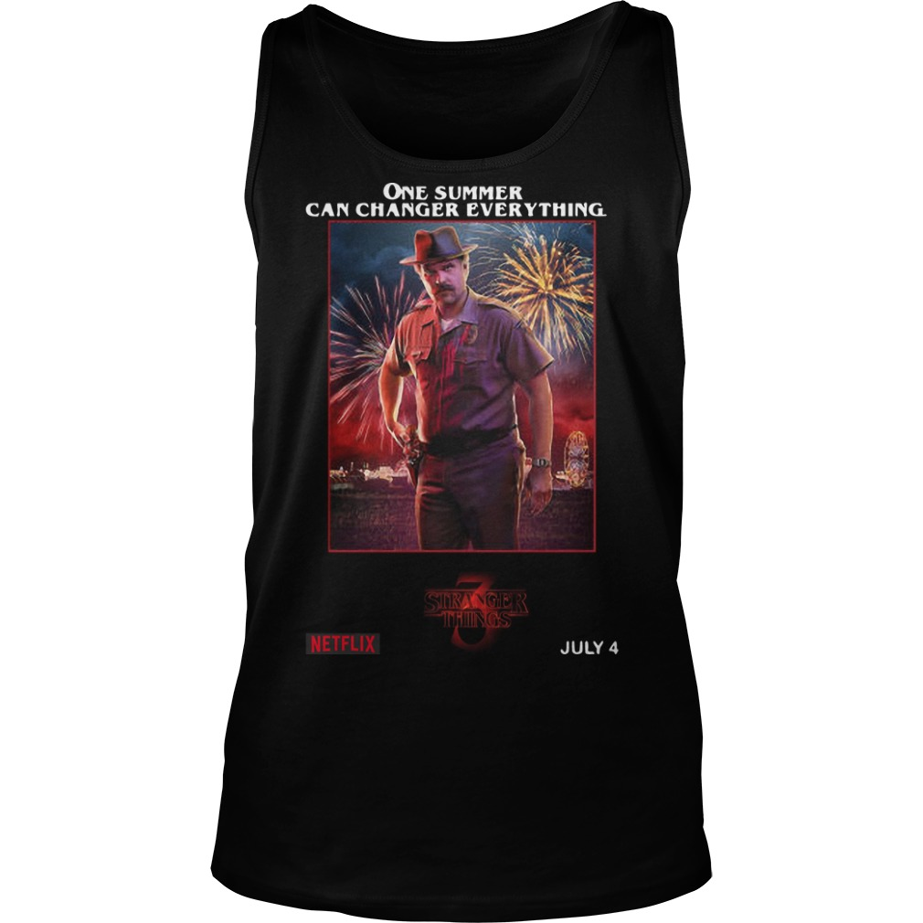 Jim Hopper One Summer Can Change Everything Tank Top