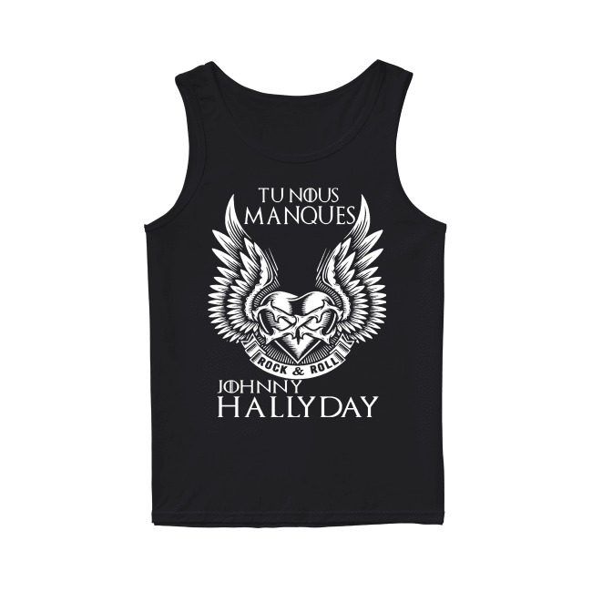 Jojoo Rock & Roll Tu Nous Manques Johnny Hally Day Tank Top