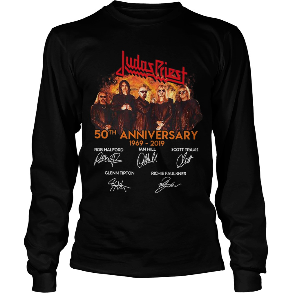 Judas Priest 50th Anniversary 1969 2019 Longsleeve Tee