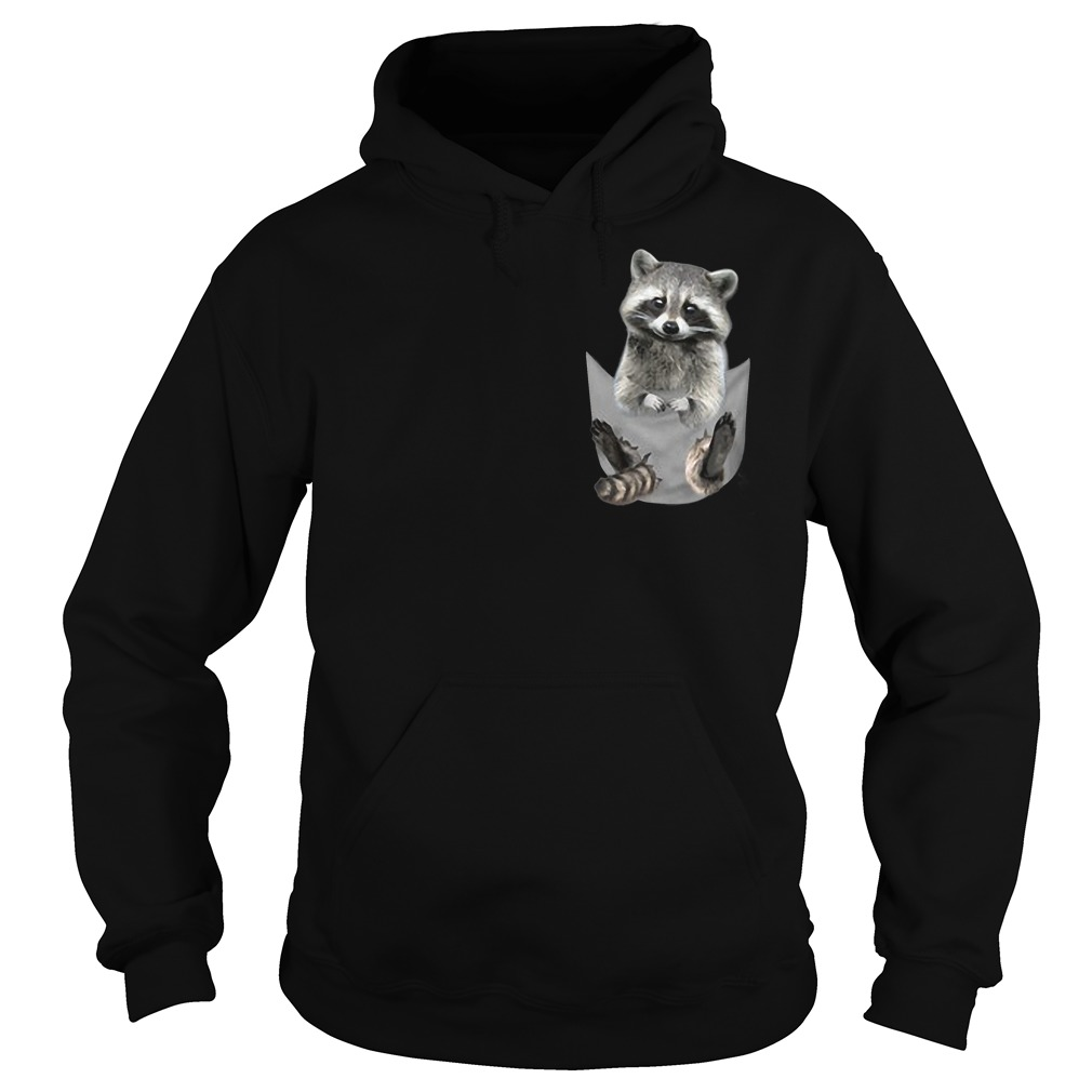 Raccoon In Pocket Hoodie