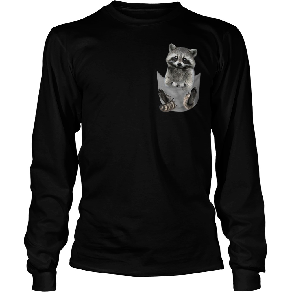 Raccoon In Pocket Longsleeve Tee